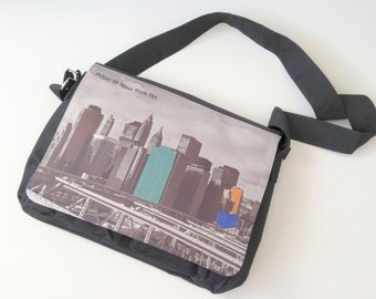 Cool business bag for school, university  or the office with a Pilbri ® Design  New York Art print