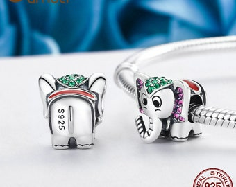 848463842 Lucky Elephant 1 Charm Bead Fits Authentic Pandora Charm Bracelet Jewelry, Sterling  Silver Charm
