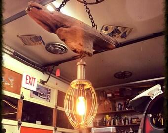 Driftwood Whisk Pendulum Lamp