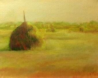Haystack in Yellow