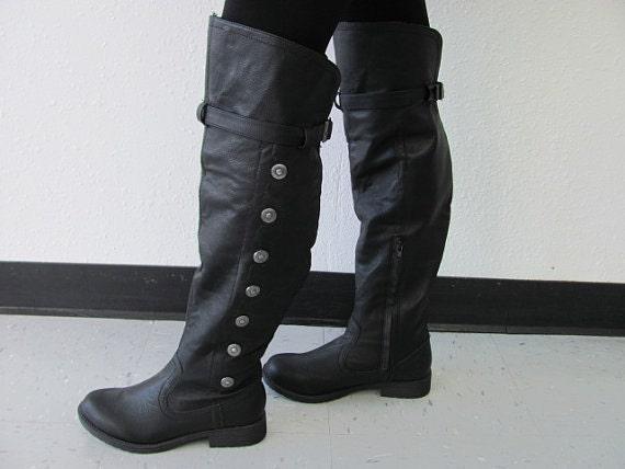 Bottes hommes Landon chaussures médiéval, Renaissance, genou hautes bottes, bottes de Steampunk, Costume bottes, bottes de scène