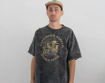 Acid Wash Saloon Tee XL