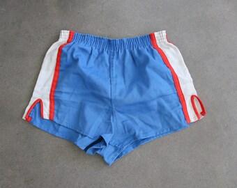 Retro Cut High Waisted Super Hero Blue White Stars Shorts Adult XS Xsmall Ready to Ship MTCoffinz