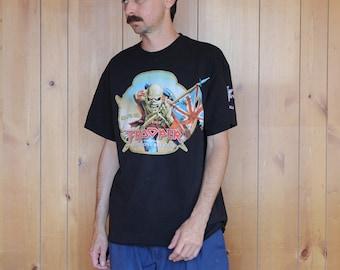 19330aa13 Iron Maiden Trooper Beer Shirt Large