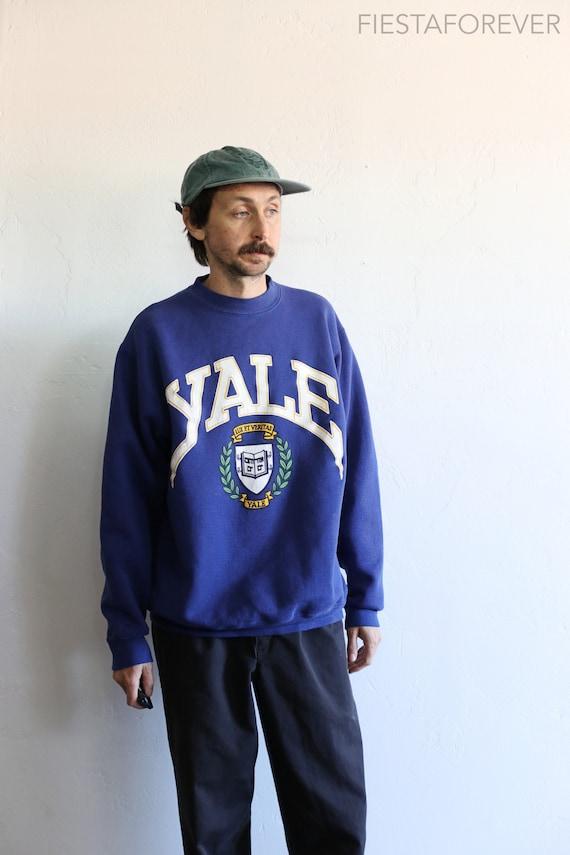 Yale University Heather Gray Raglan 80s Sweatshirt