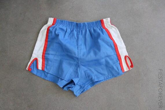 70s Track High Waist Athletic Stripe Elastic Short