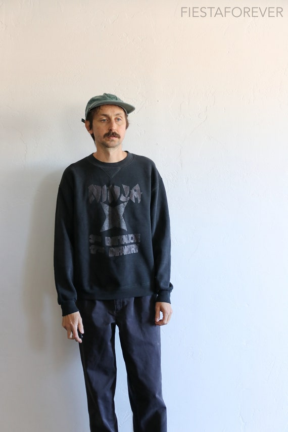 Ninja Russell Faded Military Sweatshirt Large