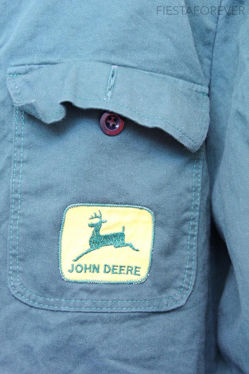 John Deer 70s Mechanic Farmer Forest Green Chore Jacket Large