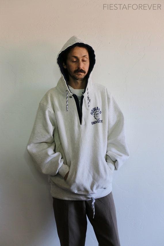 90s Howard University Reverse Weave Hoodie 2XL