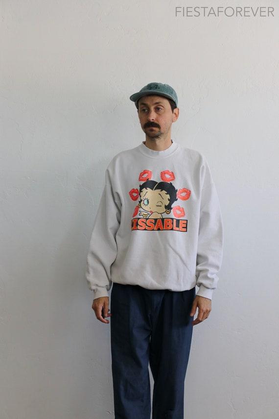 90s Betty Boop Kissable Glitter Sweatshirt XL