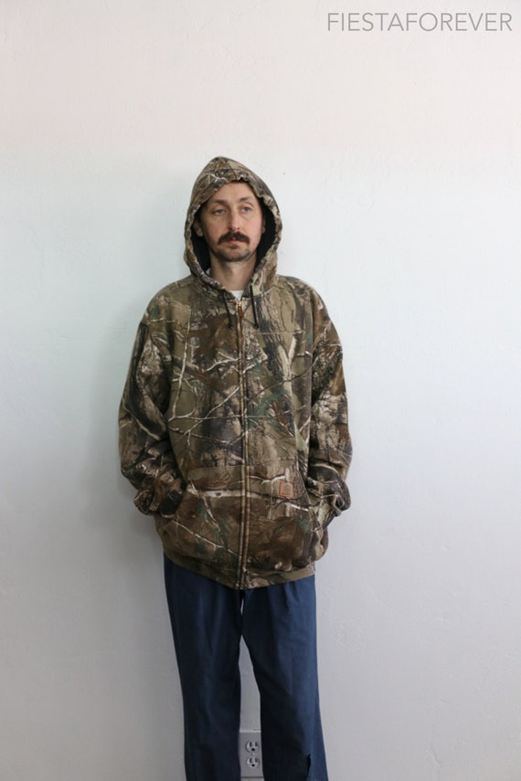 Carhartt Camo Hoodie Sweatshirt Large