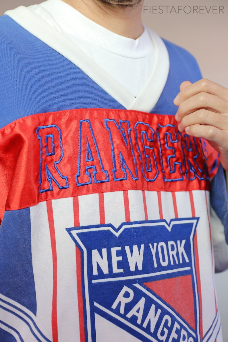 New York Rangers All Over Print Hockey Jersey Shirt Large