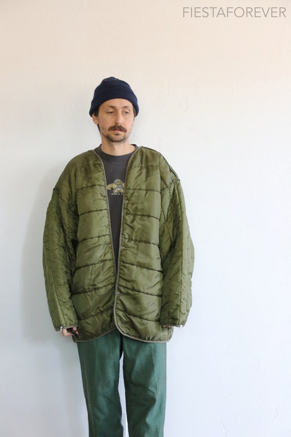 Quilted Army Green Liner Jacket XL