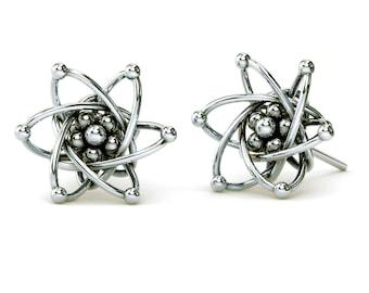Carbon Atom Stud Earrings