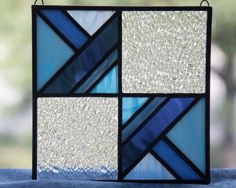 Blue Geometric Suncatcher