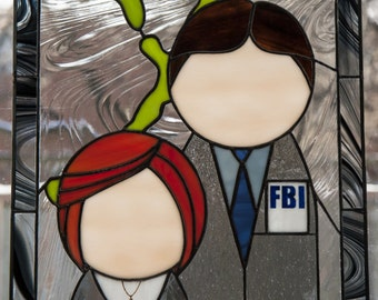X-Files Stained Glass Panel