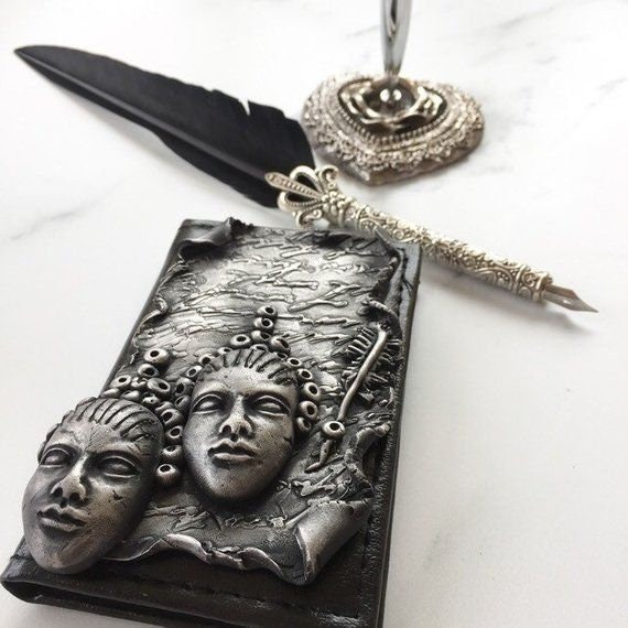 Gothic inspired pocket address book