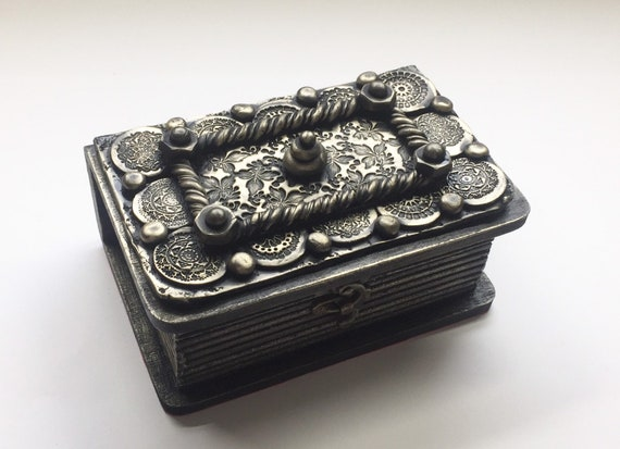 Golden Coins design wooden Trinket box