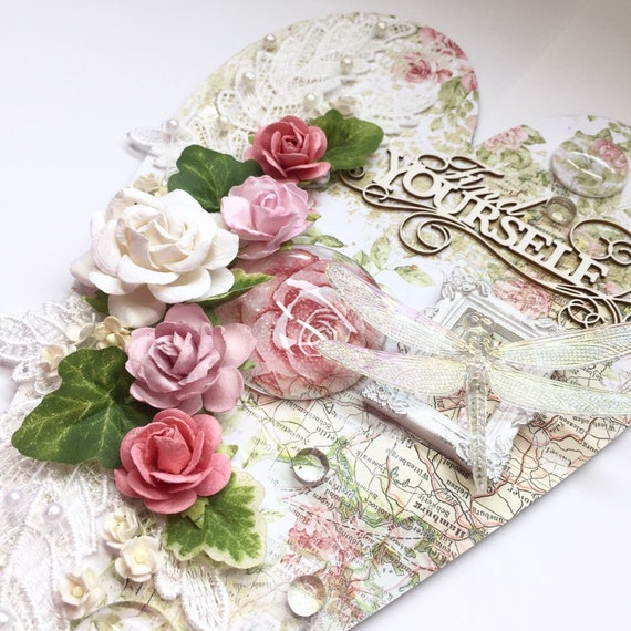 Shabby heart wall plaque