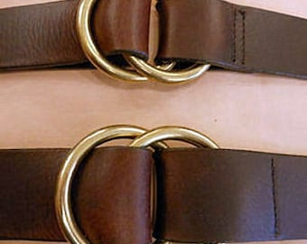 282e145e513d Double Ring Leather Cinch Belt