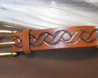 Rope Embossed Leather Belt