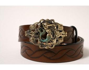 Small Mermaid Buckle Leather Belt