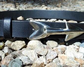 Swordfish Dart Leather Belt
