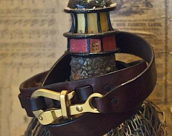 Pelican Sailing Hook Leather Belt