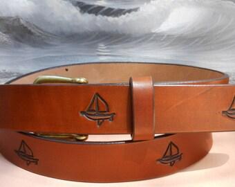 Sloop John B Sailing Leather Belt