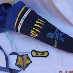 school bag, school start, school start, fabric, pillow, ninja, ninjago, 70 cm,blue