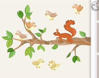 Wandtattoo Baum L mit Vögeln 155cm Kinderzimmer   Etsy