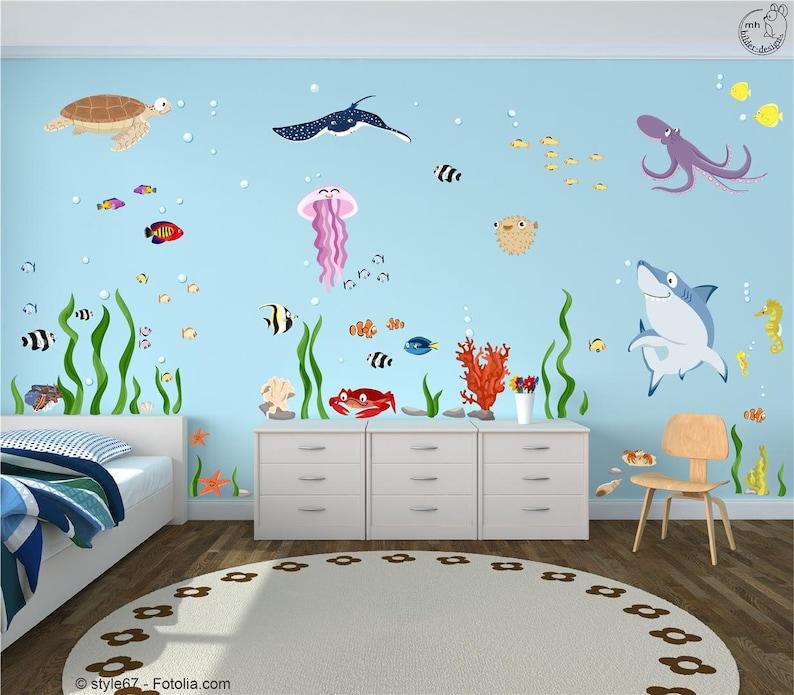 Wall decal Set Ocean Underwater World XXL Baby image 0