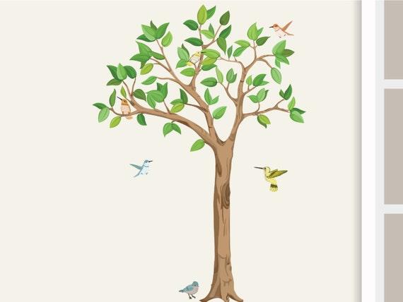 Wandtattoo Baum L mit Vögeln 155cm Kinderzimmer | Etsy