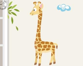 "Wall decal ""Giraffe safari"" from animal series africa children nursery"