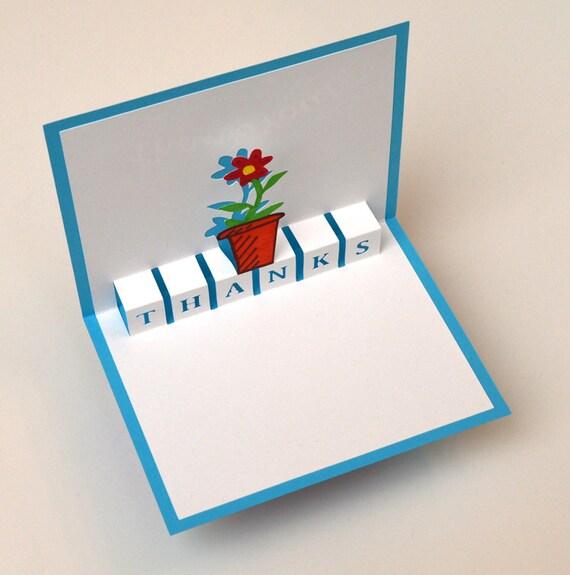 Pop up di ringraziamento flower pot colore azzurro etsy - Ringraziamento tacchino al colore ...