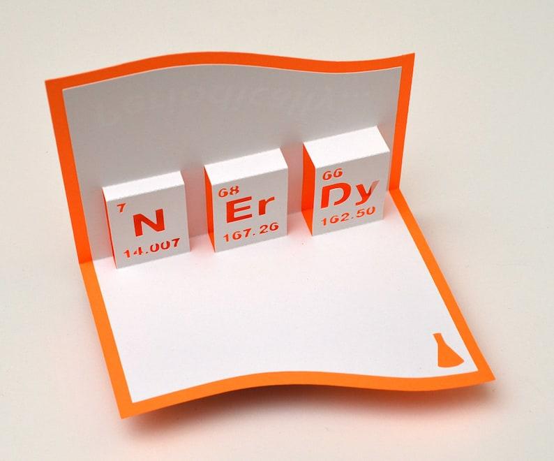 Pop-Up Greeting Card Nerdy Orange