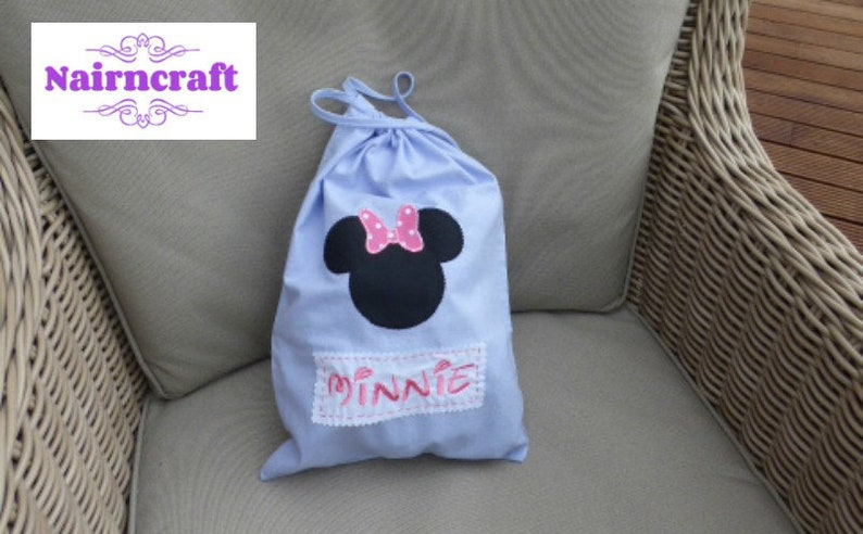 Personalised Mickey Mouse School//PE//Gym//Baby//Drawstring Bag