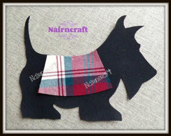 Applique cucito highland mucca applique patch nero lana tessuto cut