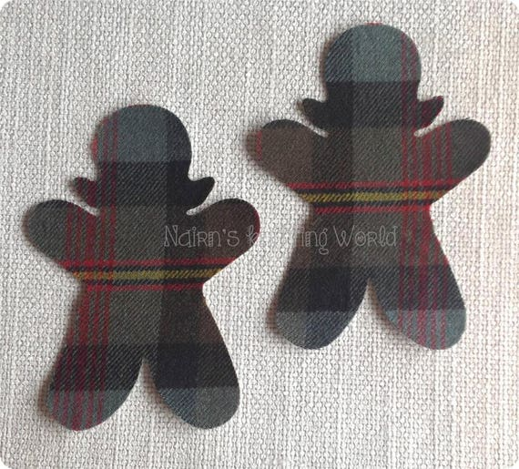 5 x Brown Gingerbread man Applique patch Sewing card  Embellishment D15