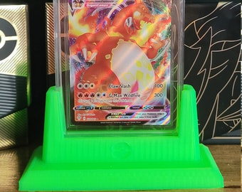 Graded trading card slab display stand - with Pokeball stamp (CGC or PSA)