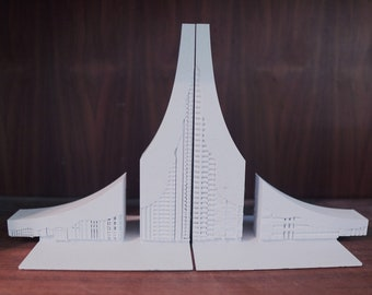 Purdue Engineering Fountain Bookends