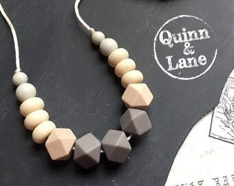 Silicone Teething Necklace - Bite Beads Nursing Necklace Jewelry - Teether Chewing Beads - Chew Jewelry Beads  - The Serenity