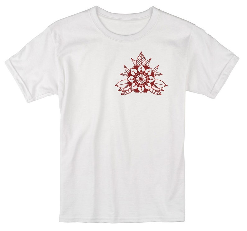 image 0 White Tee/Red