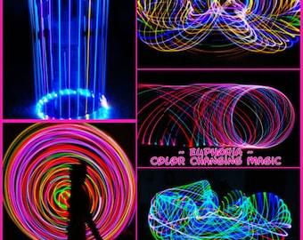 PolyPro LED Hula Hoop ~ Euphoria ~ Color Changing Magic