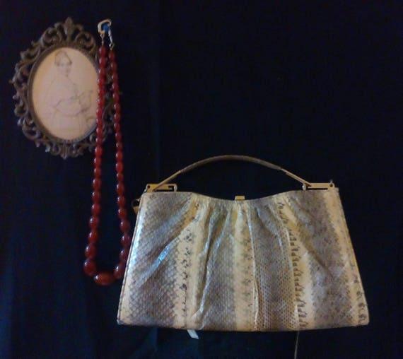 Dior 1970s vintage snakeskin handbag