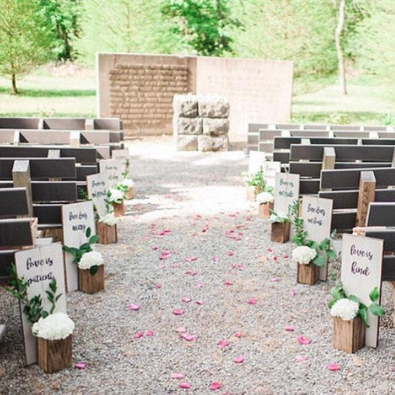 Wedding Aisle Decoration Ideas: Wedding Aisle Decor 1 Corinthians 13:4-7