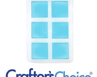 Lot of 2 Crafters Choice 1609 Silicone Guest Mold for Soapmaking Lotion Bars Cold Process Melt & Pour