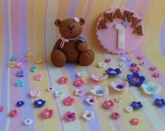 Teddy Bear Fondant Cake Topper Etsy