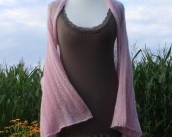 Bridal shawl / wedding / sleeve stole  /  3/4 sleeve / shrug / bolero / cardigan / mohair / silk / wool