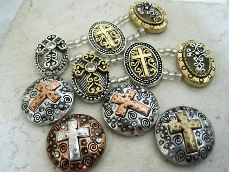 DOLLAR STORE Small 2-hole slider beads jewelry supplies ...
